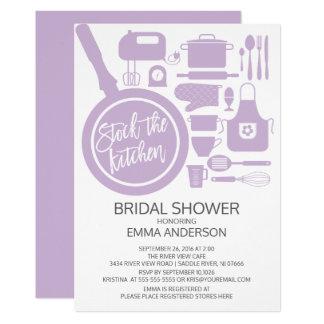 Modern Lavender Kitchen Bridal Shower Invitation