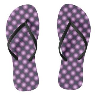 Modern Lavender Polka Dot Pattern Flip Flops