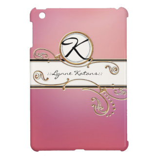 Modern Lavish Elegant Upscale Jewel Pink Monogram Cover For The iPad Mini