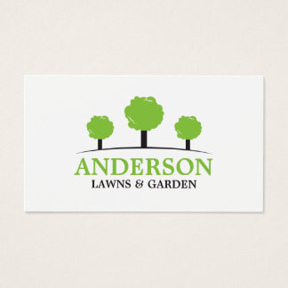 Modern Lawn Care Landscaping Business Card