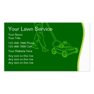 Modern Lawn Service Business Cards