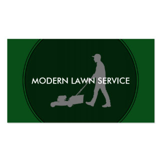 Modern Lawn Service Pack Of Standard Business Cards