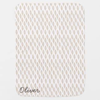 Modern Leaves Baby Blanket