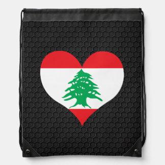 Modern Lebanese flag Backpacks