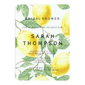 Modern Lemon Bridal Shower Invitation