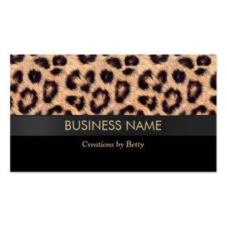 Modern Leopard Print Jewelry Designer Business Cards