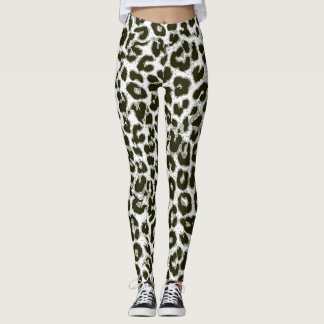 Modern Leopard Skin Pattern #12 Leggings