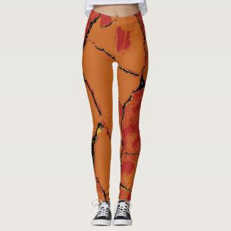 Modern Leopard Skin Pattern #8 Leggings