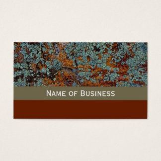 Modern Lichen Stone Texture Business Card