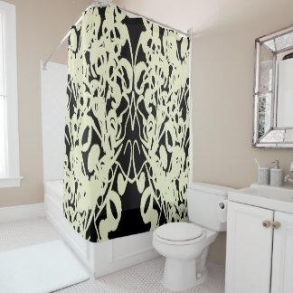 Modern-Life(c)Black & Cream-Everyday_ Shower Curtain