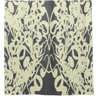Modern-Life(c) Deep Gray  & Cream-Everyday_ Shower Curtain
