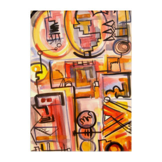 Modern Life-Hand Painted Abstract Art