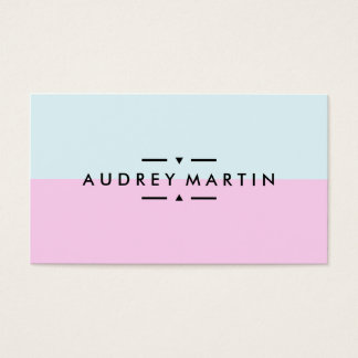Modern light blue and pink minimalist color block