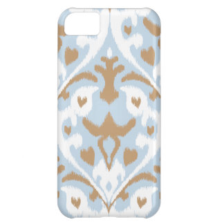 Modern light blue and white ikat tribal pattern iPhone 5C case