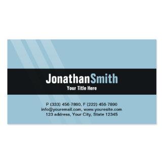 Modern Light Blue Black With Elegant Stripes Pack Of Standard Business Cards