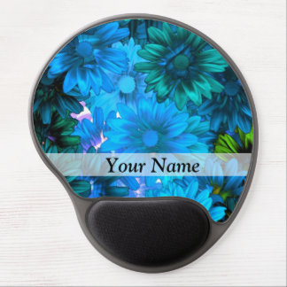 Modern light blue floral pattern gel mouse pad