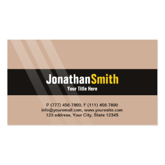 Modern Light Brown Yellow With Elegant Stripes Pack Of Standard Business Cards