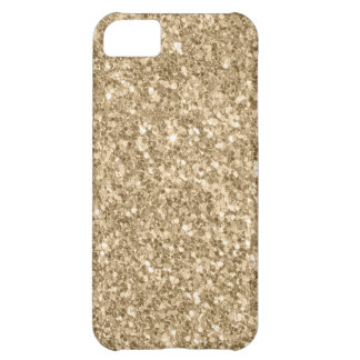 Modern Light Gold Glitter Print iPhone 5C Case