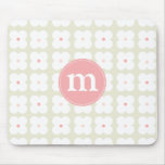 Modern Light Pink & Grey Cute Personalised Mouse Mats