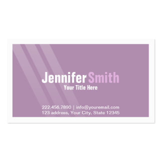 Modern Light Purple With Stripes and Frame Pack Of Standard Business Cards
