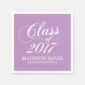 Modern Lilac   Graduation Napkins Paper Napkins