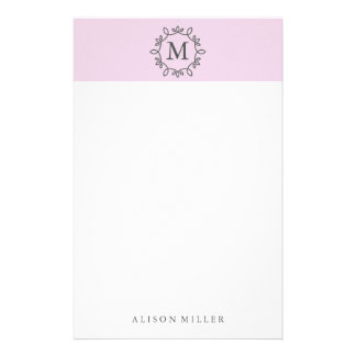 Modern Lilac Monogrammed Stationery