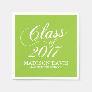 Modern Lime | Graduation Napkins Disposable Serviettes