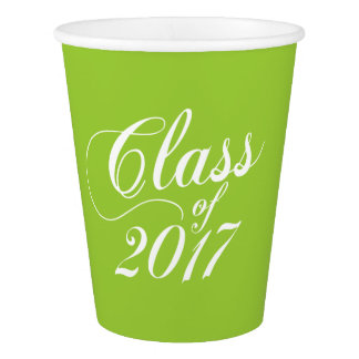 Modern Lime | Graduation Paper Cup