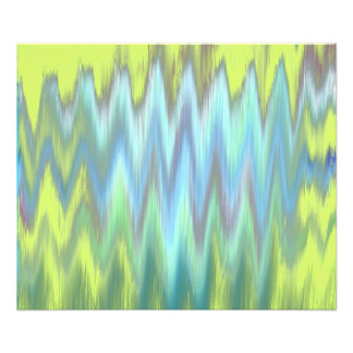 Modern Lime Turquoise Ikat Chevron Zigzag Photograph