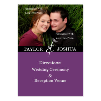 Modern Lines Deep Plum Direction Cards Pack Of Chubby Business Cards