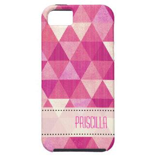 Modern Lines geometric fuschia iPhone 5 Cover