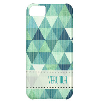 Modern Lines geometric teal iPhone 5C Covers