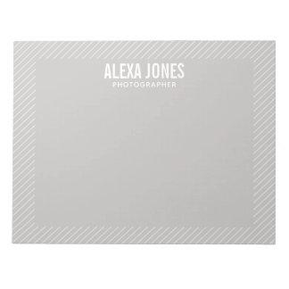 Modern Lines Grey Notepad