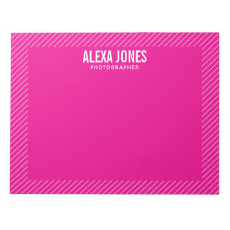 Modern Lines Pink Notepad