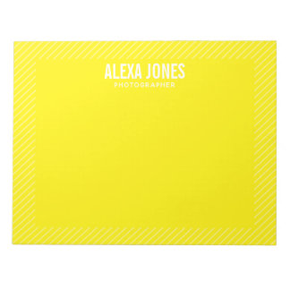 Modern Lines Yellow Notepad