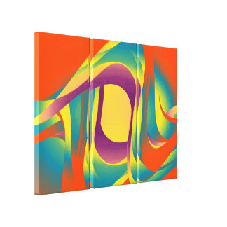Modern liquid abstraction gallery wrapped canvas