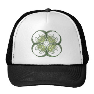 Modern Look Four Leaf Clover Fractal Art Cap