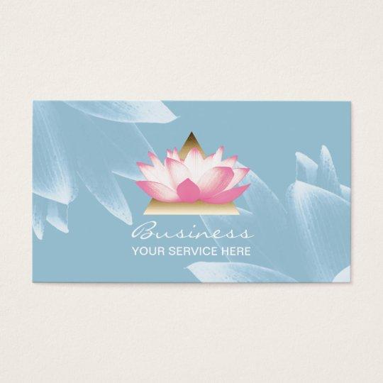 Modern Lotus Flower Elegant Spa & Salon Business Card