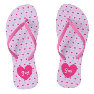 Modern Lovely Hearts Flip Flops