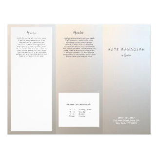 Modern Luminous Silver Salon Spa Brochure 21.5 Cm X 28 Cm Flyer