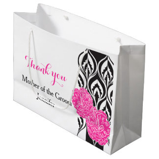 Modern luxe wedding grooms mother favor gift bag