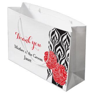 Modern luxe wedding grooms mother favor gift bag large gift bag