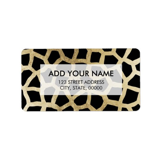 Modern luxury black and gold foil animal print