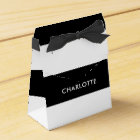 Modern Luxury Black and white stripes pattern Favour Box