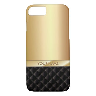 Modern Luxury Gold with Custom Name iPhone 7 iPhone 8/7 Case