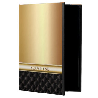 Modern Luxury Gold with Custom Name Powis iPad Air 2 Case