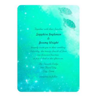 """Modern Magical Ocean Beach Wedding Invites 5"""" X 7"""" Invitation Card"""
