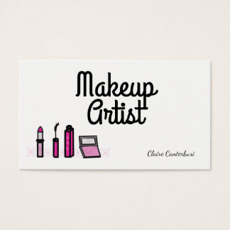 Modern Makeup Artist Business Card