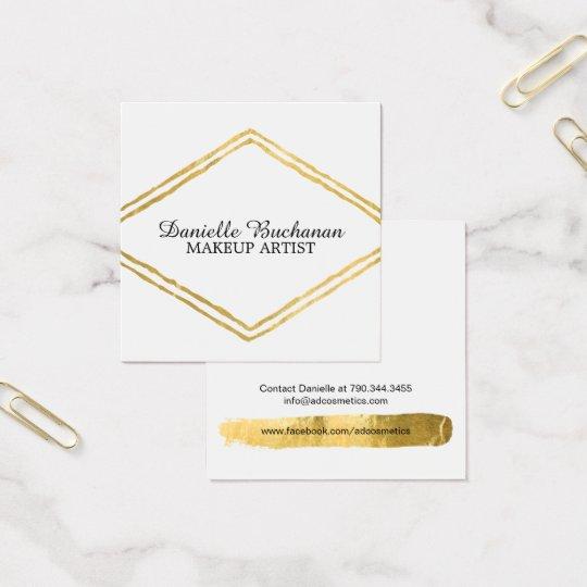 Modern Makeup Artist Business Cards
