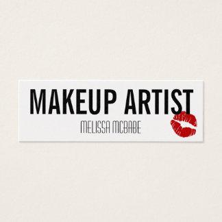 modern makeup artist lips kiss simple budget cheap mini business card